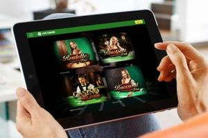 Live Casino games on your Tablet