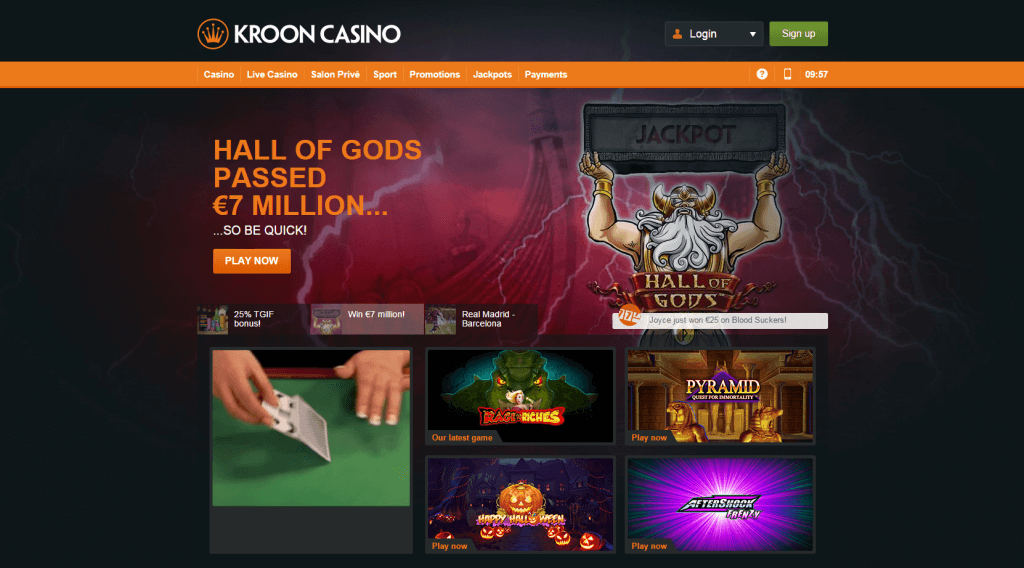 Kroon-Live-Casino-Homepage