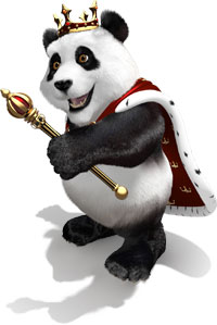 Royal Panda Mascot