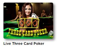 Play Live Three Card Poker