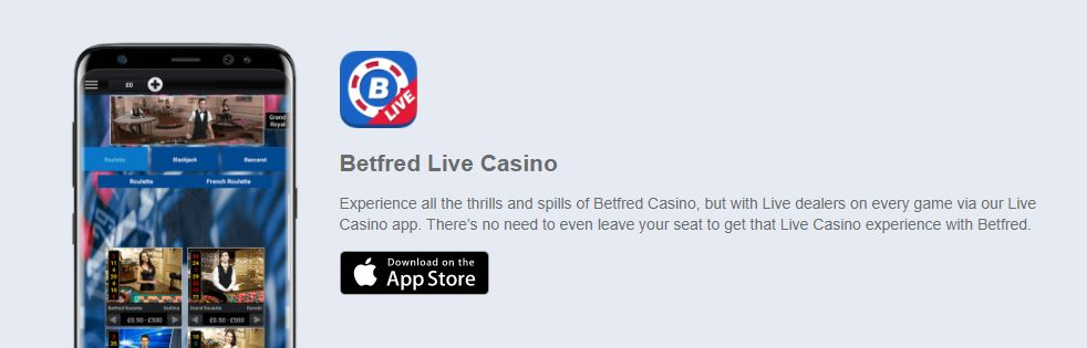 Betfred Mobile live casino
