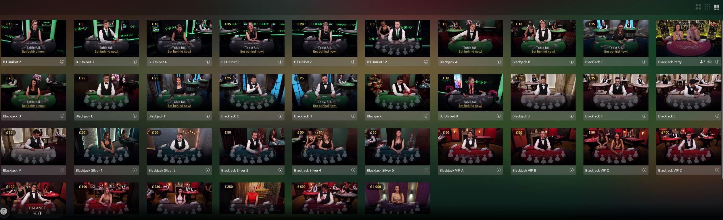 Stan James Live Casino Blackjack