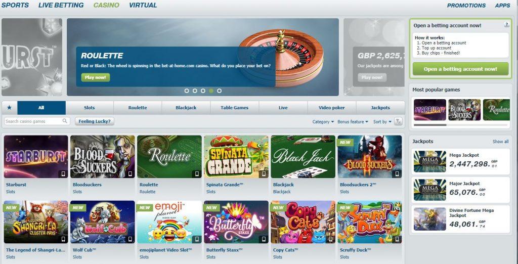 BetAtHome Games Offer