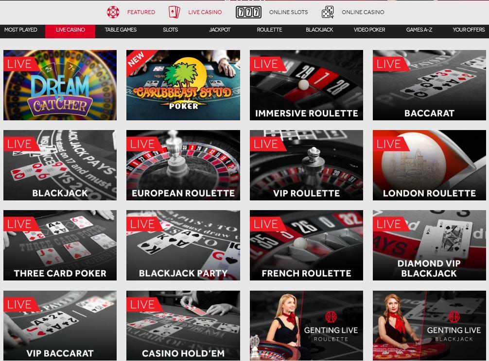 Genting Live Casino Environment