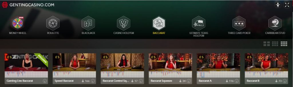 Evolution Gaming Live Baccarat