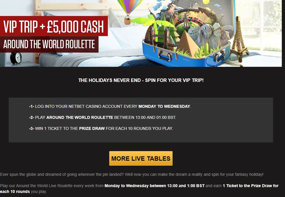 NetBet Live Casino Other Offers