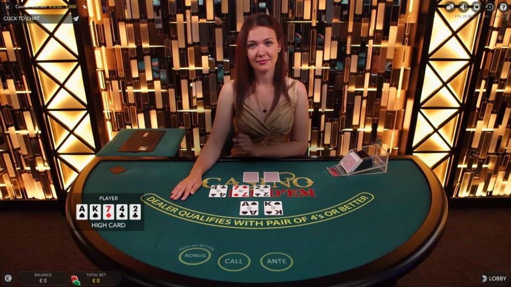 Play Casino Hold'em Online at Casino.com UK