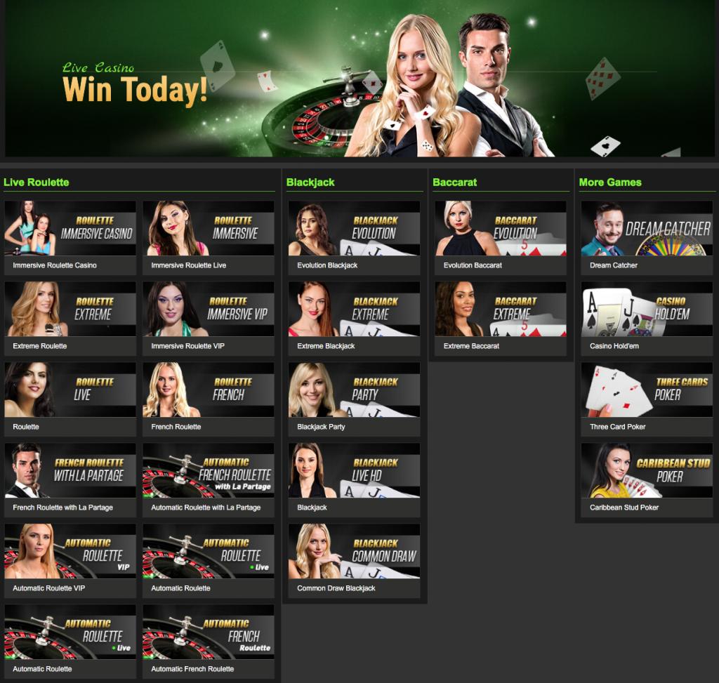 NetBet Live Casino Games