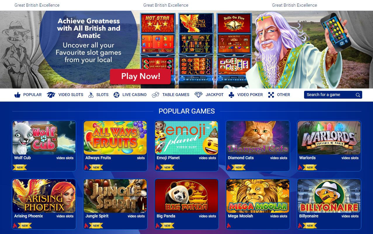 All British Live Casino Games