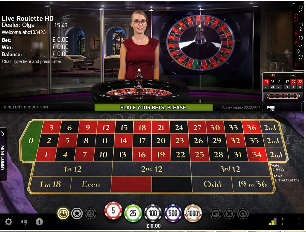 All British Live Casino Roulette