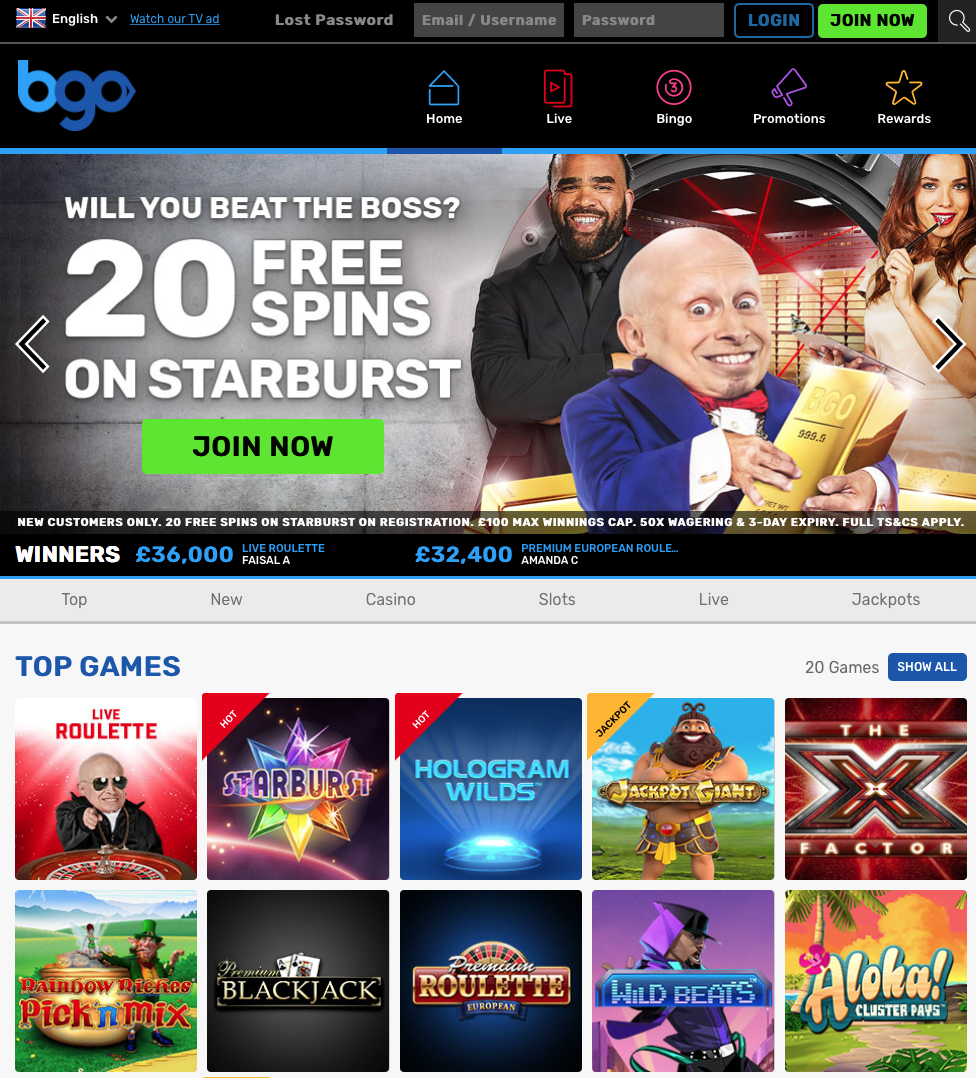bgo casino live chat