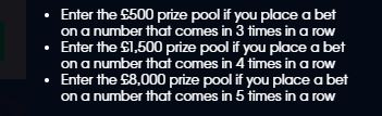 William Hill Roulette Weekly Prize Pot Rules