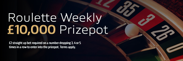 William Hill Roulette Weekly Prize Pot