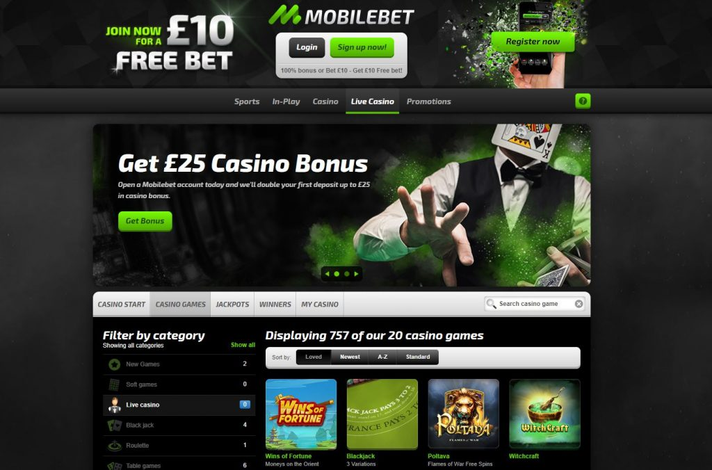 mobilebet live casino review